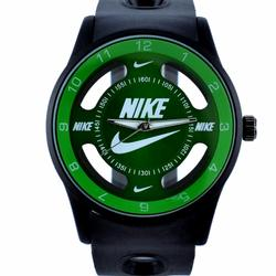 Nike Accessories   Nike Watch Sport Hollow Silicone Strap Band Unisex   Color: Black/Green   Size: Os