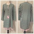 J. Crew Swim | Nwt J. Crew Pink Green Cotton Cover-Up W Tassels | Color: Green/Pink | Size: L