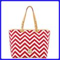 Dooney & Bourke Bags | Dooney & Bourke Chevron Tote | Color: Red/White | Size: Mediumlarge Tote