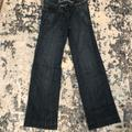American Eagle Outfitters Jeans   Dark Denim Wide Leg Jeans Size 0   Color: Blue   Size: 0