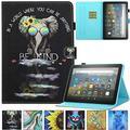 Kindle Fire HD 8 Plus 2020 Case, Artyond PU Leather Card Slot Smart Cover with Auto Sleep/Wake Slim Stand Case for Amazon Kindle Fire HD 8 Plus/Fire HD 8 10th Gen 2020 Release (Kind Elephant)