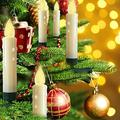 Christmas Tree Candle Lights,15 LED 14FT Battery Powered Candles String Light 8 Lighting Modes Christmas Tree Lights Warm White with Removable Clips for Home,Votive,Wedding,Tree,Garden,Birthday,Party