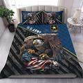 Personalized Us Army Veteran Quilt Quilt Patterns All-Season Quilts Comforters with Cotton - King Queen Twin Size Beach Trips, Gifts Quilt Set