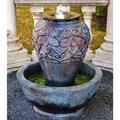 "Bali Urn 33 1/2"" High Bronze Patina LED Outdoor Fountain"