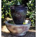 """Turkish Urn 34"""" High Relic Sargasso LED Outdoor Fountain"""