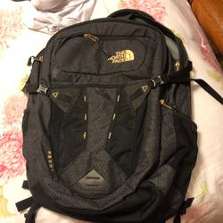 The North Face Bags | North Face Recon Backpack | Color: Black/Gold | Size: Os
