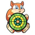 ZGHYBD Best Sticky Darts Board Set Sports Toys Fabric Double Sided Ball Dart Board Set, Sticky Balls Darts Indoor Outdoor Games Squirrel