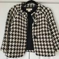 Michael Kors Jackets & Coats | Michael Kors Cape Like Houndstooth Jacket M | Color: Black/Cream | Size: M