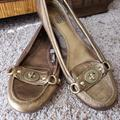 Coach Shoes | Coach 'Katrin' Slip On Loafers | Color: Gold | Size: 8.5