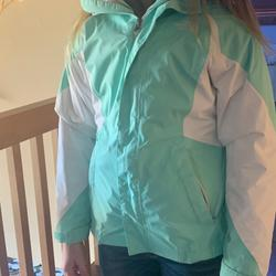 The North Face Jackets & Coats | North Face Jacket W Gray North Face Liner. 2 For 1 | Color: Gray/Green | Size: 10-12