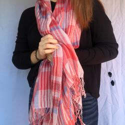 American Eagle Outfitters Accessories | Multi-Colored Scarf | Color: Blue/Pink | Size: Os