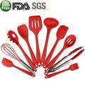 Smarten 10-Piece Assorted Kitchen Utensil Set Silicone in Red   Wayfair Utensil-Silicone-10pcs-Red