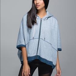 Lululemon Athletica Jackets & Coats | Lululemon In The Loop Poncho Jacket | Color: Blue/Red | Size: 4