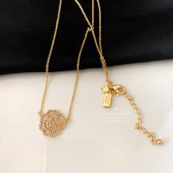Kate Spade Jewelry | Kate Spade Necklace Gold Crystal Necklace | Color: Gold | Size: Os