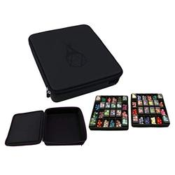 Forged Dice Co. Double Dice Tray Dice Case - Holds 40 Plastic Dice Storage Cubes or 14 Dice Per Section up to 560 Total Dice - Dice Tray and Display Case Compatible with Chessex Cubes and DND Dice