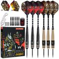 Whimlets Steel Tipped Darts Set for Dart Board - Professional Metal Tip Dart Kit with Aluminum Shafts, O-Rings, and Flights for Man Cave or Bar - Pro Throwing Steel Tip Darts for Dartboard Gift Set