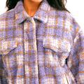 Free People Jackets & Coats | Jacket Plaid Women'S | Color: Purple | Size: M