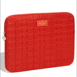 Kate Spade Accessories | Kate Spade Signature Spade Quilted Laptop Sleeve | Color: Orange | Size: Os