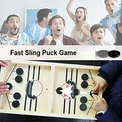 Franhais Table Desktop Battle Ice Hockey Game,Tabletop Slingshot Games Toys,Desktop Sport Board Game for Adults & Kids,Winner Board Games Toys, Parent-Child Interaction Toys (10 Chess Pieces)