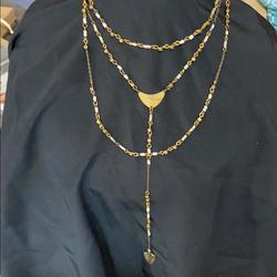 American Eagle Outfitters Jewelry | American Eagle Layering Necklace | Color: Gold/White | Size: Os