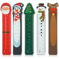 75 Pieces Christmas Bookmark Rulers Snowman Santa Christmas Tree Elk Animal Design Cute Funny Bookmarks Christmas Themed Prints for Xmas Holiday Party Favor Classroom Kids Presents Student