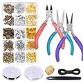 Anezus Jewelry Repair Kit with Jewelry Pliers, Jewelry Making Tools, Beading String and Jewelry Making Supplies for Jewelry Repair, Jewelry Making and Beading