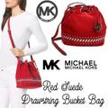 Michael Kors Bags   Mk Michael Kors Jules Red Suede Satchel Rare Bag   Color: Red/Silver   Size: Os