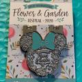Disney Jewelry | Epcot International Flower And Garden Pin | Color: Green/Silver | Size: Os