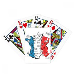 DIYthinker Map City France Landmark National Flag Poker Playing Cards Tabletop Game Gift