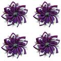 Getfitsoo Flower Napkin Rings Set of 4, Purple Lotus Napkin Rings Handmade Napkin Ring Holders Cloth Handcrafts Plant Napkin Rings for Weddings, Family Dinners, Outdoor Parties or Napkins