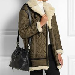 Burberry Jackets & Coats   Burberry Brit Quilted Shearling Coat   Color: Green/White   Size: M