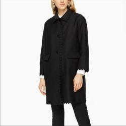 Kate Spade Jackets & Coats   Kate Spade Floral Trim Coat   Color: Black   Size: 2