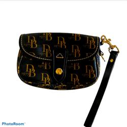Dooney & Bourke Bags   D&B 1975 Leather Brown Wristlet Flap Over   Color: Brown/Tan   Size: Os