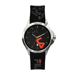 FILA Watches for Women - Womens Watches - Analog Watch - Cool Watches for Men - Mens Wrist Watch - Running Watch - Unisex Watch - Fila Watches for Men - Black & Red Fila Watch