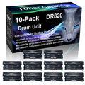 10-Pack (Black) Compatible MFC-L5800DW, MFC-L5850DW, MFC-L5900DW, MFC-L6700DW Black Drum Unit (High Yield) Replacement for Brother DR820 DR-820 Drum Unit (30,000 Pages)