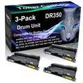 3-Pack (Black) Compatible HL-2040N HL-2040R HL-2070N HL-2070NR Black Drum Unit (High Yield) Replacement for Brother DR350 DR-350 Drum Unit (12,000 Pages)