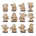 DND Fantasy Miniatures 12 Cute Character Classes Set 2.5D Wood Laser Cut Figures 28mm Scale Perfect for Dungeons and Dragons, Pathfinder and Other Tabletop RPG