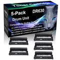 5-Pack (Black) Compatible HL-L2315DW HL-L2320D HL-L2340DW HL-L2360DW Black Drum Unit (High Yield) Replacement for Brother DR630 DR-630 Drum Unit (12,000 Pages)