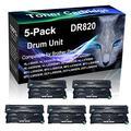 5-Pack (Black) Compatible MFC-L5800DW, MFC-L5850DW, MFC-L5900DW, MFC-L6700DW Black Drum Unit (High Yield) Replacement for Brother DR820 DR-820 Drum Unit (30,000 Pages)