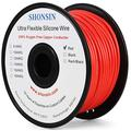 18 Gauge Wire, SHONSIN 18 AWG Silicone Wire 100% Copper (200ft / 61m Red) Ultra Flexible High Temp 392℉/200℃ 18AWG Wire 165 Strands 0.08mm (0.83mm2) Stranded Hook Up Wire 600V 16 Amp
