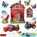 Miniature Fairy Garden Gnome Garden – Fairy Garden Accessories – Outdoor Fairy Garden Kit for Kids – Fairy Garden Statue - Gnome Figurines - Outdoor Fairy Garden Decor – Fairy Garden House Decoration