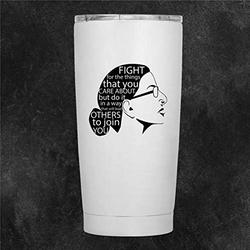 Rbg Tumbler Notorious Rbg Present RB Ginsburg Travel Mug Feminist Travel Tumbler Feminist Present Double Wall Stainless Steel Stemless Insulated Wine Glass 20oz Coffee Mug