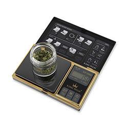King Palm Digital Mini Scale 100g x 0.01g - Black/Gold - - Small Digital Pocket Scale - Digital Food Scale - Digital Kitchen Scale - Jewelry Scale - Travel Digital Gram Scale - Meal Prep Scale
