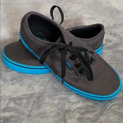 Vans Shoes   Lace Up Vans Blue And Charcoal Gray   Color: Blue/Gray   Size: 4.5bb