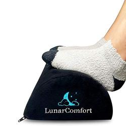 LunarComfort Adjustable Foot Rest for Under Desk - Ergonomic Foot Rest Under Desk for Leg Circulation - Dual Use Office Footrest for Back Pain Relief and Posture Correction - Computer Desk Foot Rest