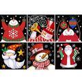 HaiMay 6 Pack DIY 5D Diamond Painting Kits Full Drill Rhinestone Painting Christmas Diamond Pictures for Wall Decoration, Christmas Diamond Painting Canvas 10×10 Inch