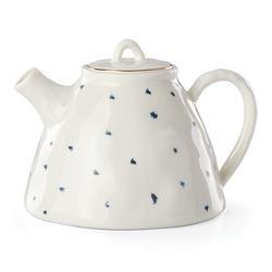 Lenox Bay 32 -oz. Porcelain Teapot Porcelain China/Ceramic in Blue, Size 5.25 H x 7.5 W x 5.25 D in | Wayfair 890209