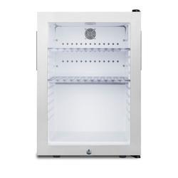 Summit MB27GST 16 Inch Wide 1.2 Cu. Ft. Compact Refrigerators Refrigerator White
