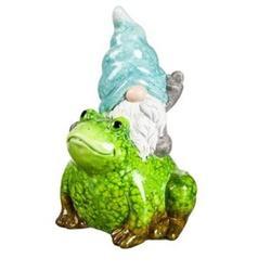 Evergreen Enterprises, Inc Terracotta Traveling Gnome & Garden Friends Garden Statue Resin/Plastic in Blue/Green/White | Wayfair 2CG391B