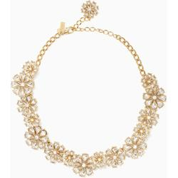 Clear As Crystal Short Floral Necklace - Black - Kate Spade Necklaces